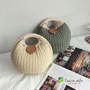 Túi cói hình ấm nước