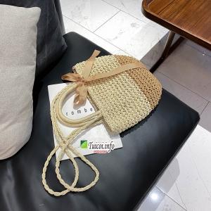 Túi cói thắt nơ