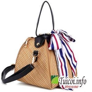 Túi cói hình bánh ú